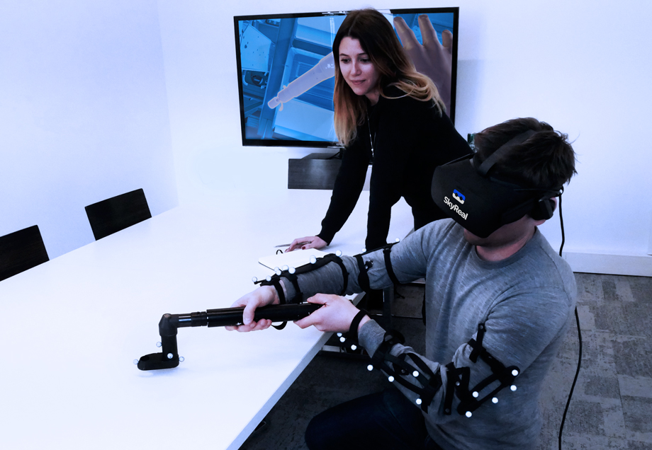 Train and learn through virtual reality