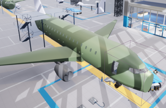 Virtual aircraft plant